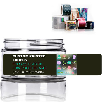 Custom Labels For 4oz Low Profile Jars Digital Printing