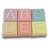 Alphabet Block Soap Mold A to F