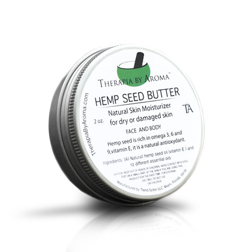 Hemp Seed butter Natural Skin Moisturizer for dry or damaged skin with essential oils