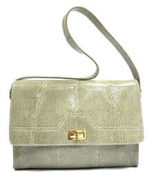 Grey-White Snake Gia Bag