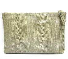 Grey-White Snake Sofia Clutch
