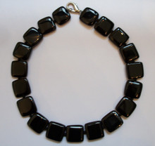 Square Onyx Necklace