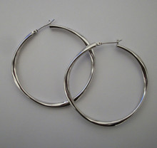 Medium Silver Mimi Hoops