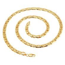 Gold Aztec Snake Necklace