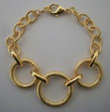 Gold Circles Bracelet