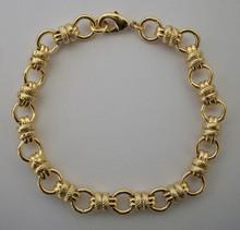 Gold Alternate Circles Bracelet