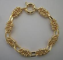 Gold Multi Link Charm Bracelet