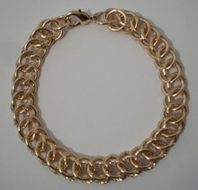 Rose Gold Circle Interlink Bracelet