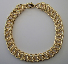 Gold Circle Interlink Bracelet