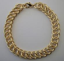 Gold Circle Interlink Bracelet