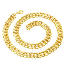 Gold Circle Interlink Necklace