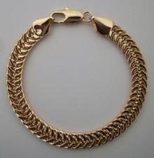 Gold Snake Braid Bracelet