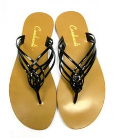 Black Crossover Sandal