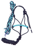 Halter and Rein Set (Aqua and Black)