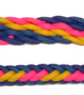 Braided Rein (Blue, Pink, Yellow)