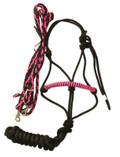 Halter and Rein Set (Pink & Black)