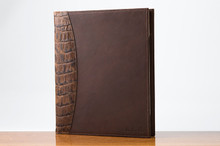 Sr. Padfolio Cognac Gator with Brown