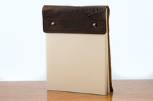 Large Notepad Brown Boomer with Cognac Gator
