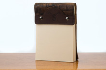 Small Notepad Brown Boomer with Cognac Gator