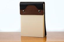 Small Notepad Tan Calf with Black Calf