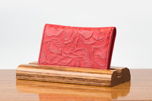 Personal Card Holder Red Floral