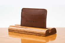 3 Pocket Card Case Tan Calf