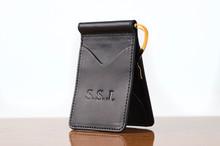 Spring Clip Wallet Black Bridle