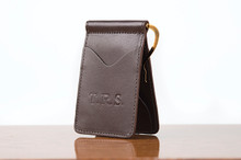 Spring Clip Wallet Brown Calf