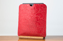 Tablet Sleeve Ferrari Red with Red Floral