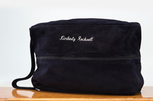Golf Shoe Bag Navy Cow Suede