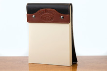 Large Notepad Chestnut Bridle with Black Bridle