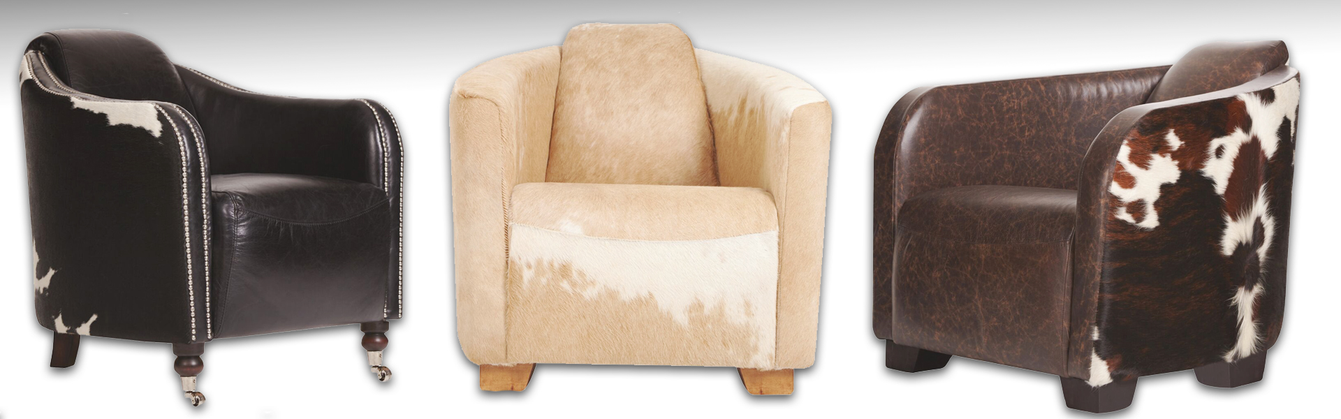 Cowhide Footstools Cow Hide Seating Dining Chairs