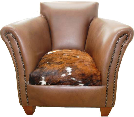 Cowhide And Leather Armchair