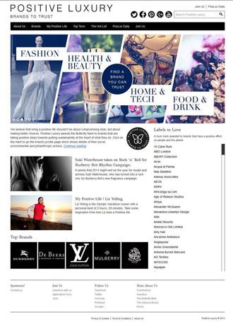 Positive Luxury Website