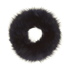 Blue Black Fox Fur Headband