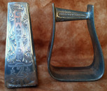 Straight Time Stirrups Roper/Trail Burnished Hand Engraved