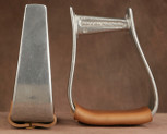 Straight Time Stirrups Jr. Roper Burnished with Leather Tread