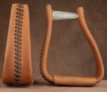 Straight Time Stirrups Packer/Over-Size Leather Lace Stirrup Dark Oil