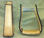 Straight Time Stirrups Barrel Leather Sewn Stirrup Light Oil