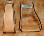 Straight Time Stirrups Packer/Over-Size Sewn Leather Stirrup Light Oil