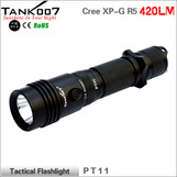 TANK007 PT11 R5 Tactical Flashlight waterproof IPX-8 led torch torches 420lumens