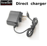 TANK007 18650 3.7V Li-ion Rechargeable Battery AC Charger USA Plug