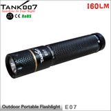 TANK007 E07 mini led torch Cree XP-G R5 160 lumens flashlight mental gift package