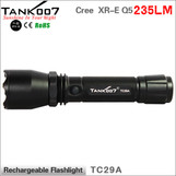 235LM 3-mode high power led flashlight with thick defensive head TANK007 TC29A
