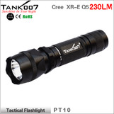 TANK007 PT10 TACTICAL FLASHLIGHT Cree Q5 230lumens led flash light led torch five working modes