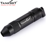 TANK007 TK360 Cree LED Expert Antique Jewelry Jade Flashlight Torch Yellow Light