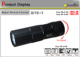 TANK007 Magnet working flashlight car use flashlight Torch cree Q5 led flashlight M10