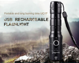 800 lumen Rechargeable LED flashlight UC17 (Set)