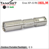 TANK007 E3 R5 one working mode Outdoor Portable Flashlight Cree led torch powered by AA/14500 battery