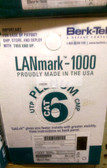 BERK-TEK LANMARK-1000 CAT 6 PLENUM CABLE, 10032094, BLUE, 1000 FT. BOX